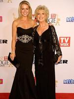 Lauren and Patti Newton during the Red Carpet Arrivals ahead of the 56th TV Week Logie Awards 2014 held at Crown Casino on Sunday, April 27, 2014 in Melbourne, Australia. Picture: Jason Edwards