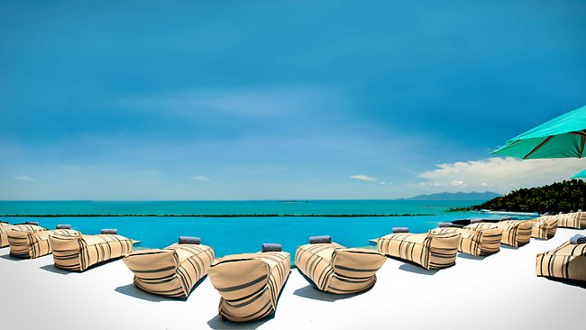 Breathtaking views from the infinity pool at the Star Mantra Samui Resort in Koh Samui. Picture: Supplied
