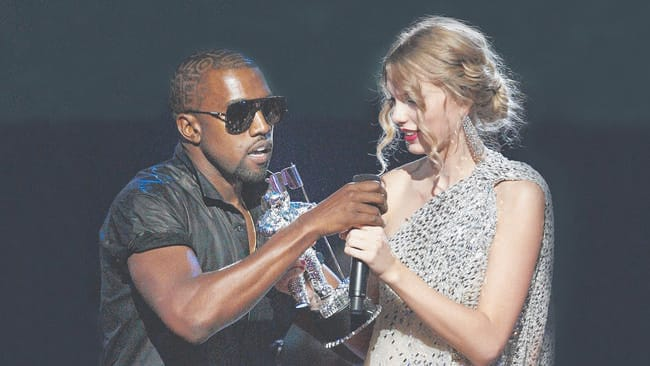 Kanye and Tay-Tay have had an, ahem ... tumultuous relationship. Picture: AP