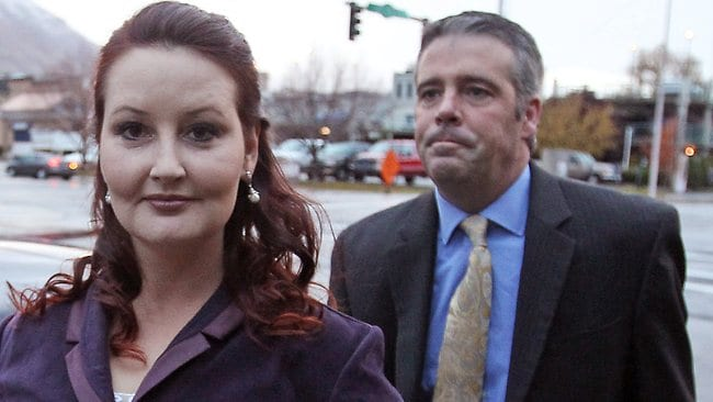 Gypsy Willis arrives at court in Provo, Utah. The mistress of Martin MacNeill was at his murder Tuesday as prosecutors try to prove she was MacNeill's motive for leaving his heavily drugged wife to die in a bathtub.