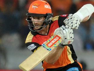 Sunrisers Hyderabad batsman Kane Williamson plays a shot during the 2017 Indian Premier League (IPL) Twenty20 cricket match between Sunrisers Hyderabad and Delhi Daredevils at The Rajiv Gandhi International Stadium in Hyderabad on April 19, 2017. ------IMAGE RESTRICTED TO EDITORIAL USE - STRICTLY NO COMMERCIAL USE----- / GETTYOUT------ / AFP PHOTO / NOAH SEELAM / ----IMAGE RESTRICTED TO EDITORIAL USE - STRICTLY NO COMMERCIAL USE----- / GETTYOUT
