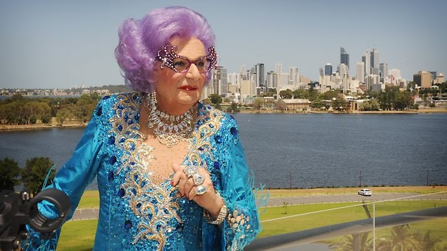 Dame Edna Everage at the Crown Metropol ahead of her Eat , Pray , Laugh farewell tour dates in Perth. Picture: Richard Polden