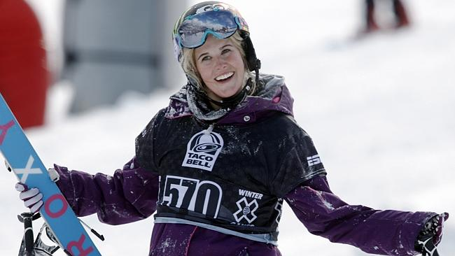 Sarah Burke of Canada, who died January 19, 2012, nine days after a training accident on a halfpipe.