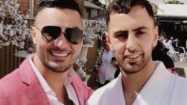 Ahmed Jaghbir (right), friends with Mehajer (left) was arrested on Tuesday. Picture: Instagram