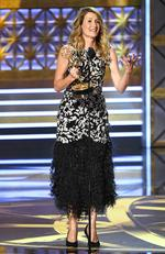 Laura Dern accepts Outstanding Supporting Actress in a Limited Series or Movie for 'Big Little Lies' onstage during the 69th Annual Primetime Emmy Awards at Microsoft Theater on September 17, 2017 in Los Angeles, California. Picture: Getty