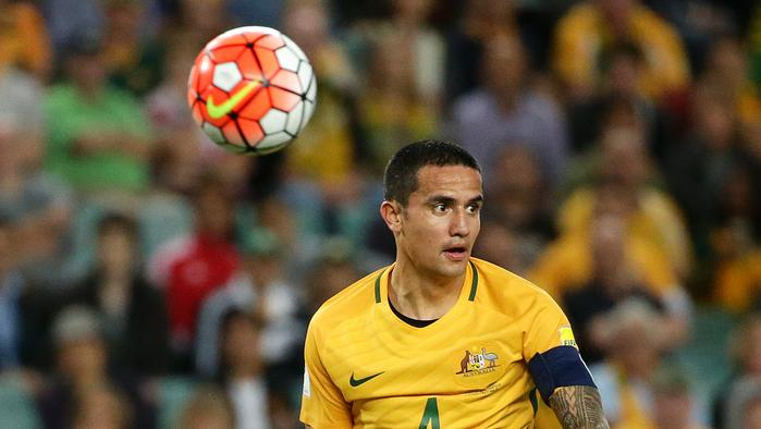 Tim Cahill in action for the Socceroos.