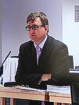 HSU barrister Mark Irving today. Picture: Screen grab from media screen.