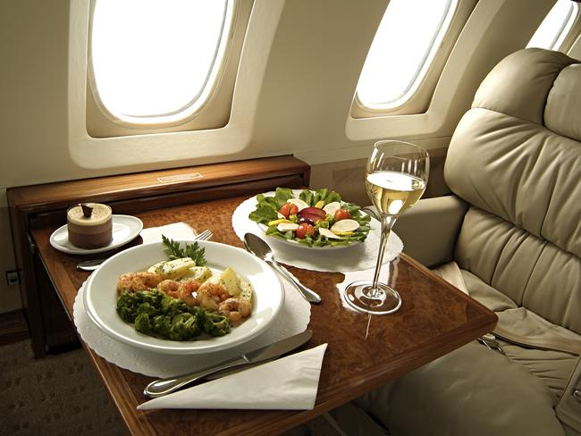 It's a calorie blow out in First class.