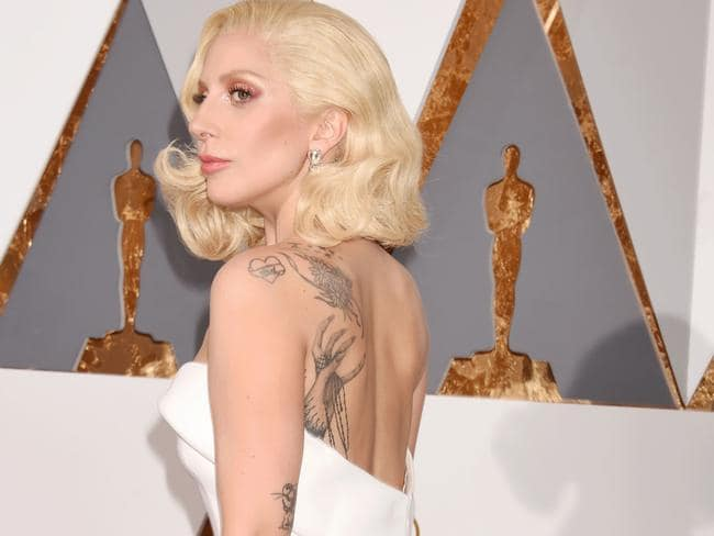 Holding onto her creative juices, Lady Gaga at the Academy Awards. Picture: Jeffrey Mayer.