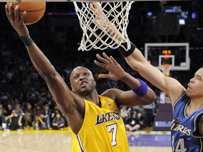 Former Los Angeles Lakers forward Lamar Odom (7).
