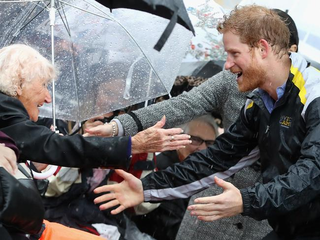 Prince Harry is happy talking to regular people or engaging in charity work, but the more formal royal stuff isn't really for him. Picture: Chris Jackson/Getty Images)