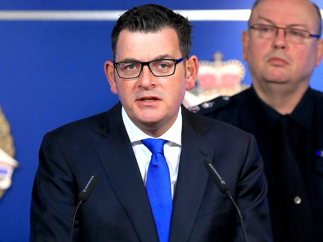 Victorian Premier Daniel Andrews has defended the decision to grand Khayre parole. Picture: Mark Stewart
