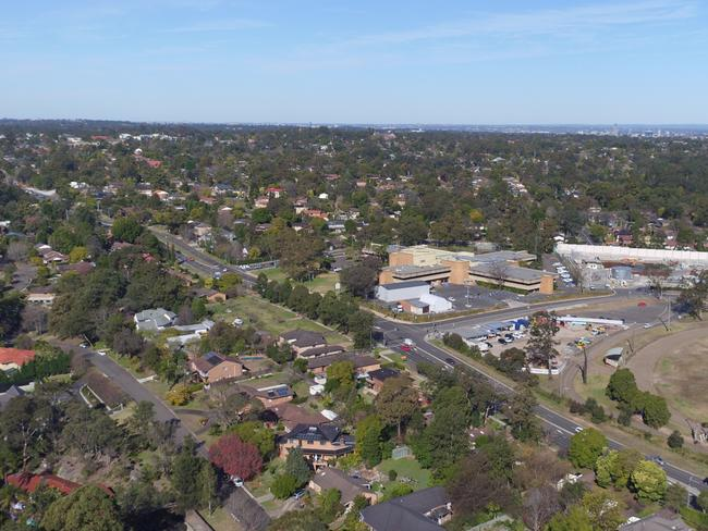 The Showground Precinct in Castle Hill, where a lot of development is set to take place. Picture: CinemAir Aerial Photography