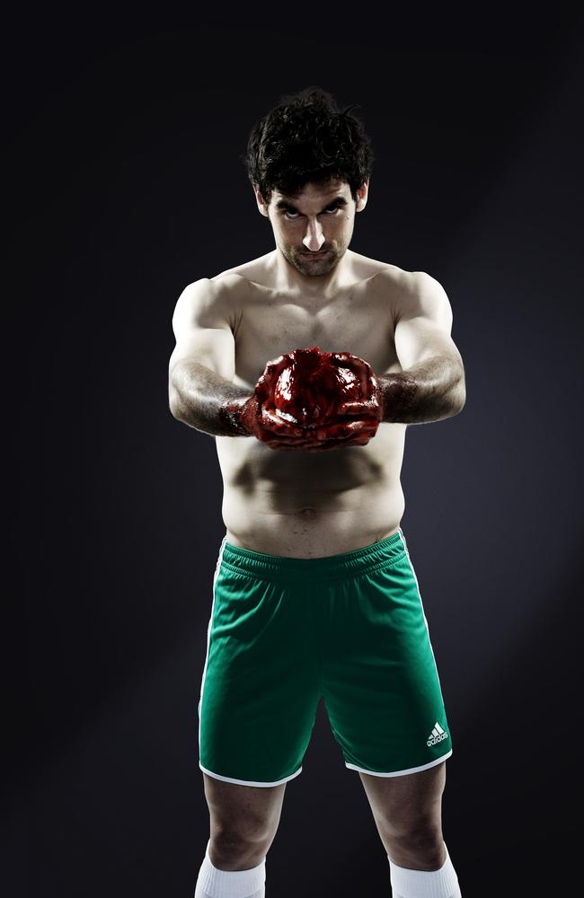 Socceroos captain Mile Jedinak in a recent sponsor's shoot for Adidas.