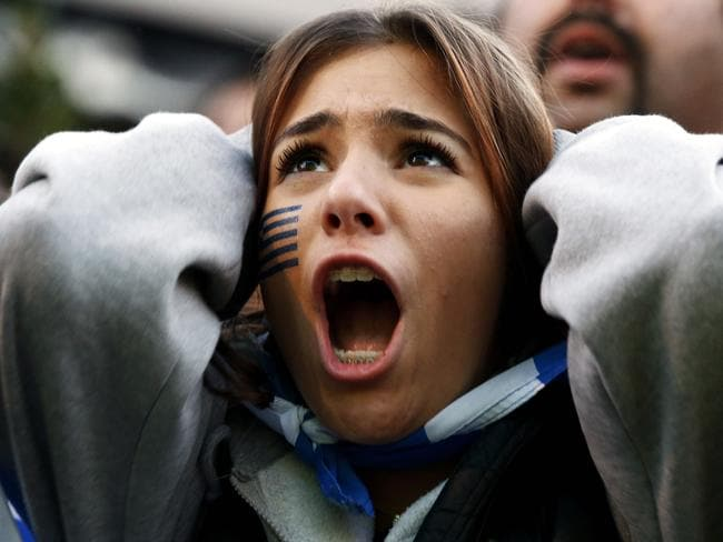 Greek fans will have to deal with the disappointment of losing a penalty shootout.