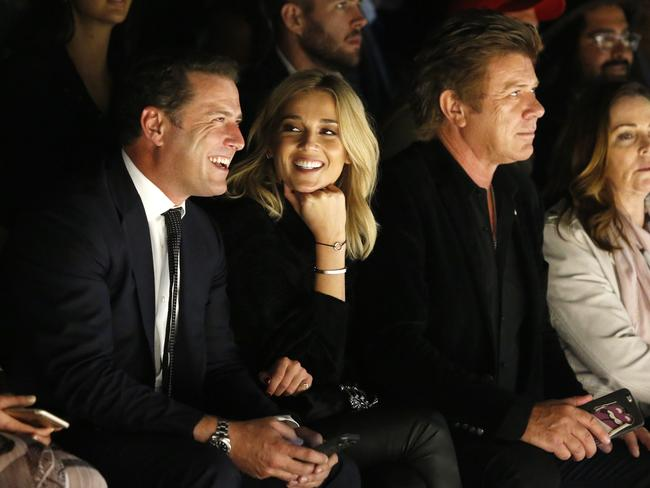 The happy couple enjoyed spending time together during Fashion Week.