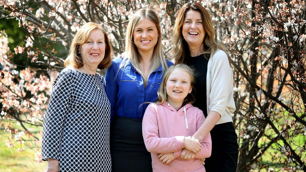 Michele Whitters, left, with family members Jessica Kennedy, Mia Gibbons, front, and Monica Kennedy.