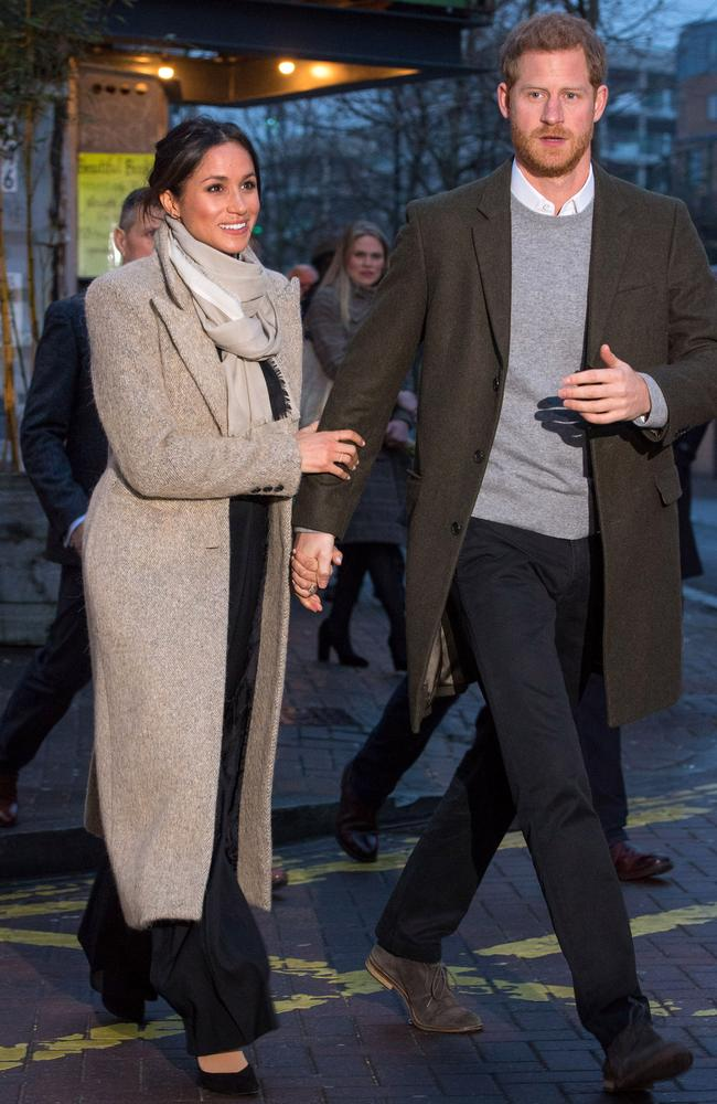 Prince Harry and Meghan Markle together in public. Picture: Getty