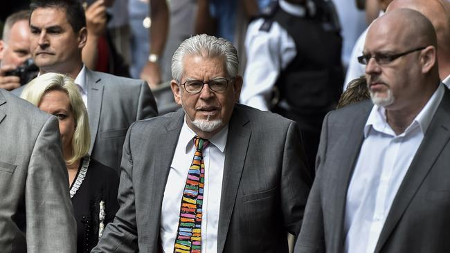 Rolf Harris at court. Picture: AFP