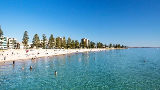 Glenelg Beach, Adelaide. Picture: Josie Withers/South Australia Tourism