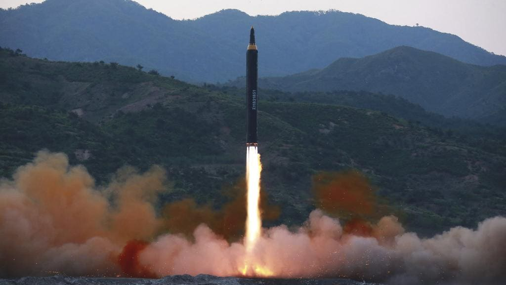 "North Korea on Monday, May 15, 2017 boasted it successfully launched a new type of ""medium long-range"" ballistic rocket that can carry a heavy nuclear warhead, an escalation of its nuclear program."