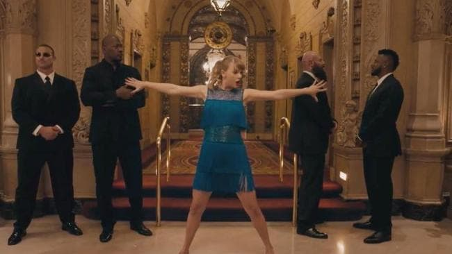 Taylor busts a move in her new video.