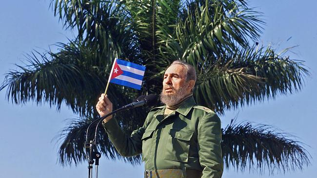 Castro in the Havana neighbourhood of San Jose de las Lajas in 2001. Picture: AFP/Adalberto Roque