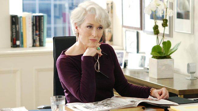FEATURES: Actor Meryl Streep in a scene from 2006 film 'The Devil Wears Prada'.