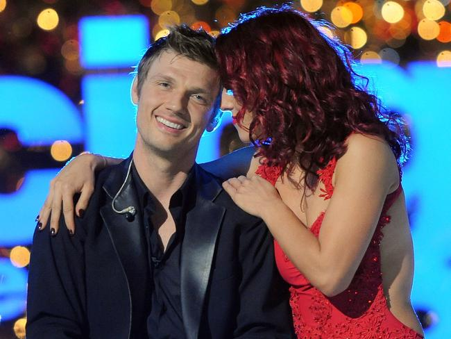 Nick Carter and Sharna Burgess on Dancing With The Stars.