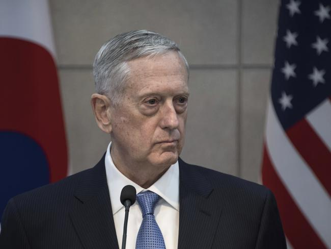 U.S. Defense Secretary Jim Mattis has sent a stern warning to North Korea. Picture: Ed Jones/AP