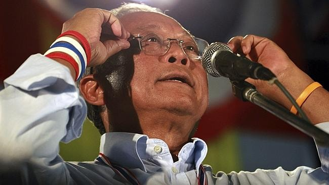Thai protest leader Suthep Thuagsuban hjas called for peaceful protests but many fear the demonstrations will turn violent.