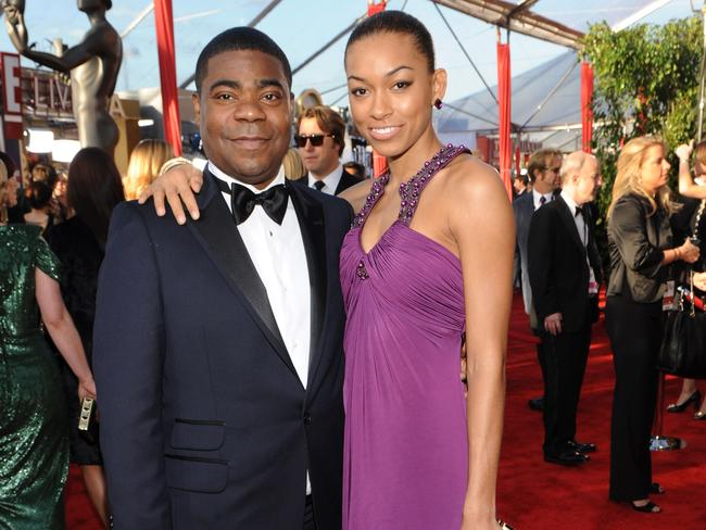Red carpet ... Morgan and his ex-wife of 23 years, Sabina, arrive at the 16th Annual Screen Actors Guild Awards.