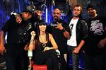 <p>(L-R) Sam Dog. B' Real, Ruby Rose, Bo Bo, Darren McMillan and Julio G - MTV show The Lair hosts Ruby Rose and Darren McMillan with American Band Cypress Hill at The Metro Sydney</p>