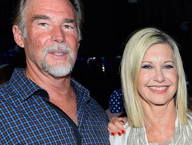 Moving on ... Olivia Newton-John has since gone on to marry John Easterling, the founder and president of natural remedy firm Amazon Herb Company. Picture: Supplied