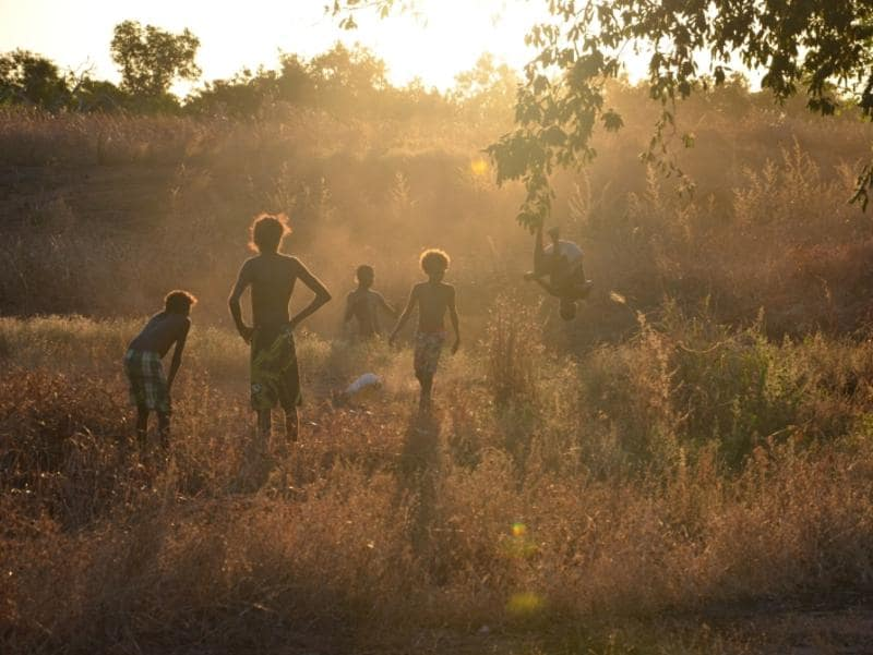 "Why I Love Aurukun Photo Competition: Graham Poon ""Playing in the River Bed"""