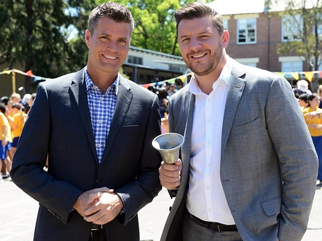 Ringing up a TV ratings monster ... My Kitchen Rules judges Pete Evans and Manu Feildel.
