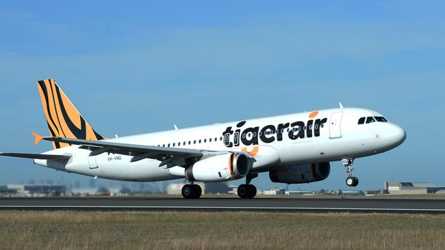 Bottom of the class ... Tigerair Australia was awarded just four out of seven stars for safety. Pic: James Morgan