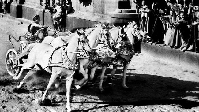 The chariot race scene stole the day.