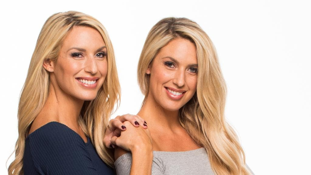 Twins Sharon and Michelle Marsh from the Channel 9 reality television series Married at First Sight. (Pic: Channel 9)