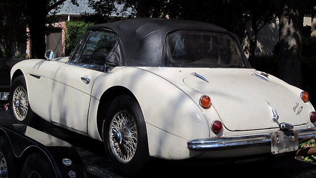This 1967 Austin Healy sports car was discovered for sale on eBay 42 years after it was stolen.