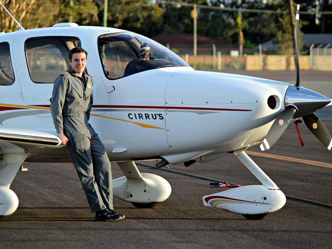 Queenslander Lachlan Smart became a youngest chairman to fly a single-engine aircraft solo around a world. Picture: Australian Geographic