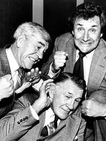 Lou, Jack Dyer and Bob Davis, the three wise men of the World of Sport, pictured in 1981.