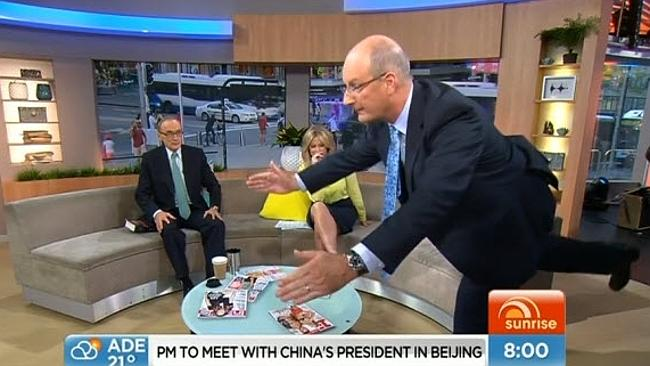 "Kochie also had a crack. His attempt was more ""dead"" than ""lift""."