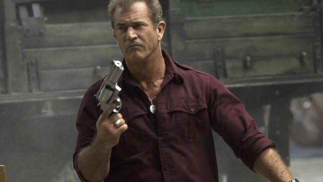 Tough nut ... Mel Gibson in a scene from The Expendables 3.