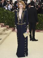 Emma Stone attends the Heavenly Bodies: Fashion and The Catholic Imagination Costume Institute Gala at The Metropolitan Museum of Art on May 7, 2018 in New York City. Picture: Getty Images