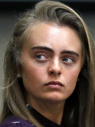 Defendant Michelle Carter listens to testimony. Picture: AP