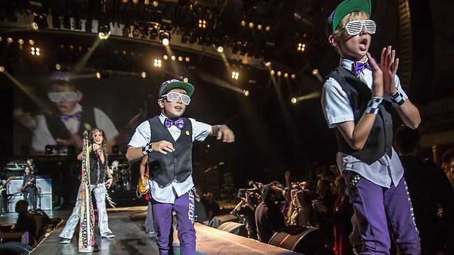 The Little Munchkins perform in the Aerosmith Show. Picture: Zack Whitford