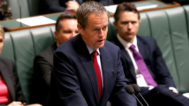 Broken promises ... Bill Shorten says it's been a year of broken promises for the government. Picture: Kym Smith/News Corp.