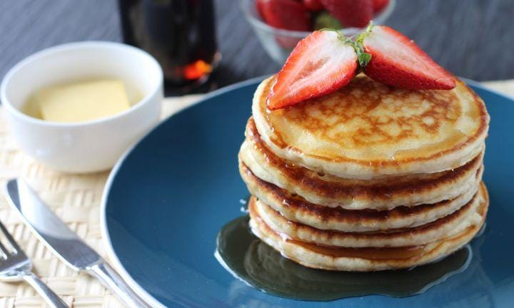 "I have road-tested this recipe … extensively … and I can confirm it is both easy and delicious. Make Dad a big stack o'pannies for brunch and your work is done!  <a href=""http://www.kidspot.com.au/kitchen/articles/video/how-to-make-pancakes"">Find the Best pancake recipe ever here.</a>"