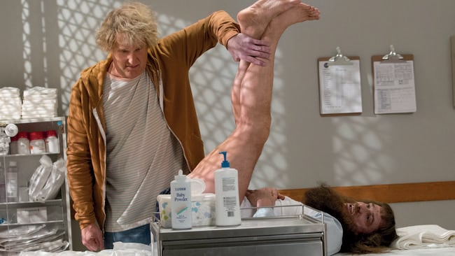 Hilarious reunion     Harry and Lloyd reunite in suitably gross out fashion in. Dumb and Dumber To   Jeff Daniels